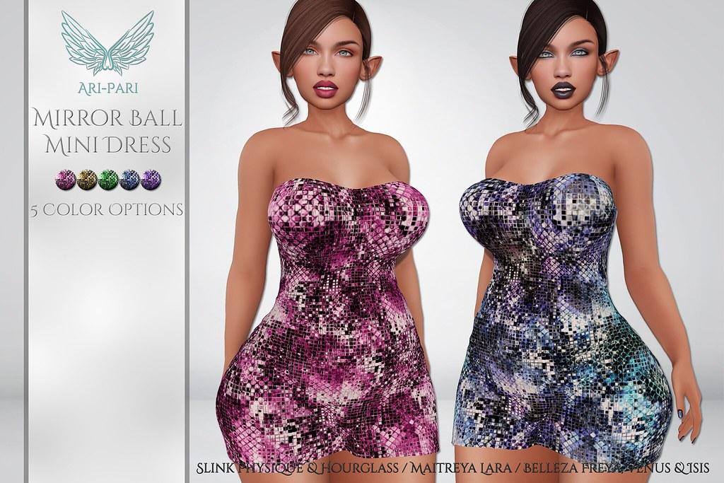 [Ari-Pari] Mirror Ball Mini Dress