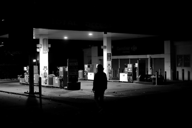 The deserted gas station
