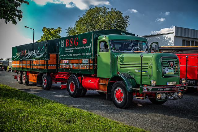 a wonderful classic FAUN L8_38 Z1 truck from 1961