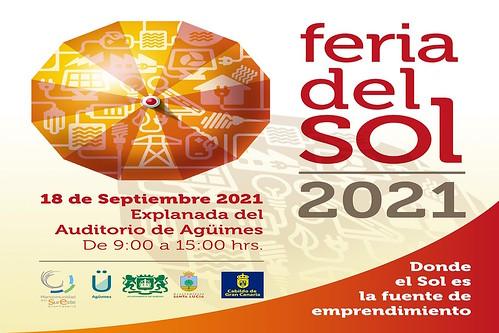 Cartel promocional de la Feria del Sol 2021 de la Mancomunidad del Sureste de Gran Canaria