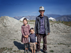 The kyrgyzs nomad family