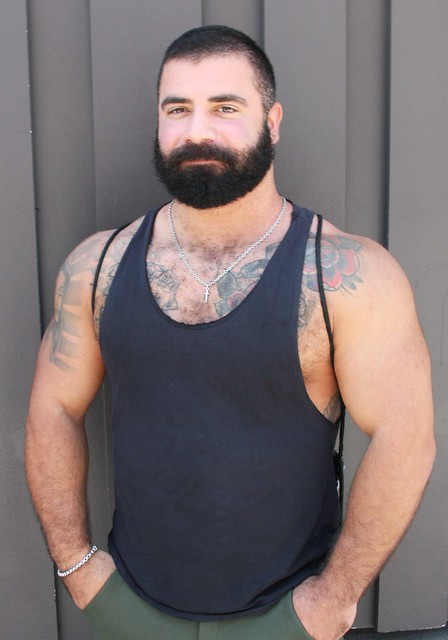 HOT & HAIRY YOUNG MUSCLE BEARMAN STUD ! photographed by ADDA DADA at FOLSOM STREET FAIR 2021 ! ( safe photo) (50+ faves)