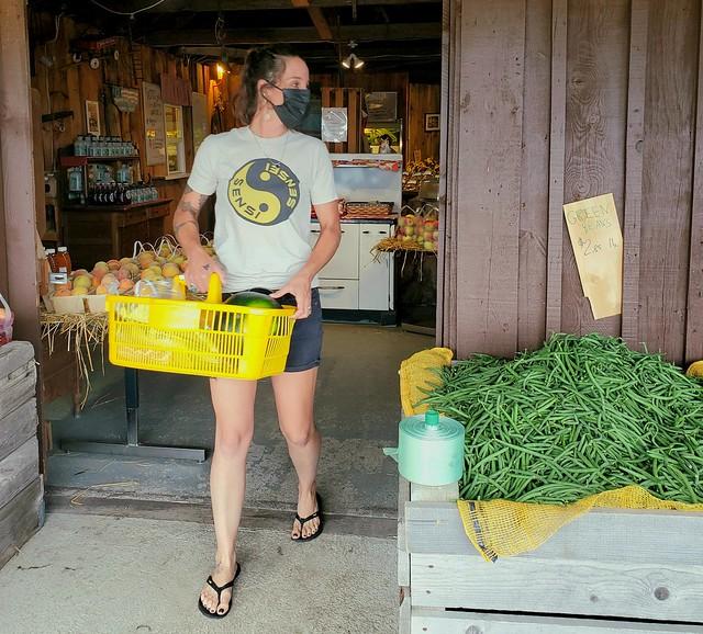 Hayley Shops for Veggies.