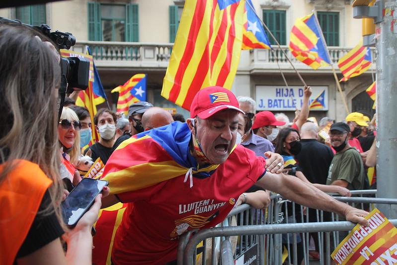La manifestación independentista de la Diada de Cataluña reúne solo a 108.000 personas, según cifra de la Guardia Urbana de Barcelona
