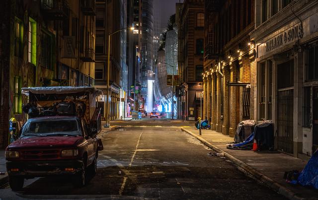 Night on the Street   San Francisco