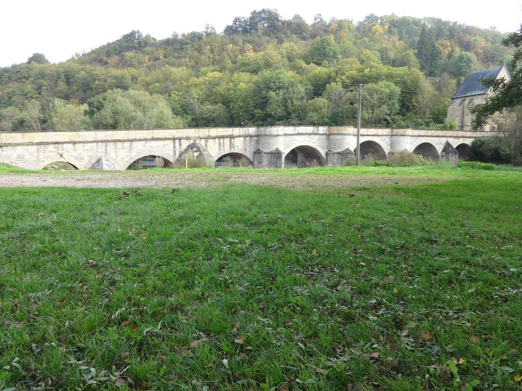 1223/24 Creuzburg siebenbogige Natursteinbrücke über die Werra Eisenacher Straße südlich 99831