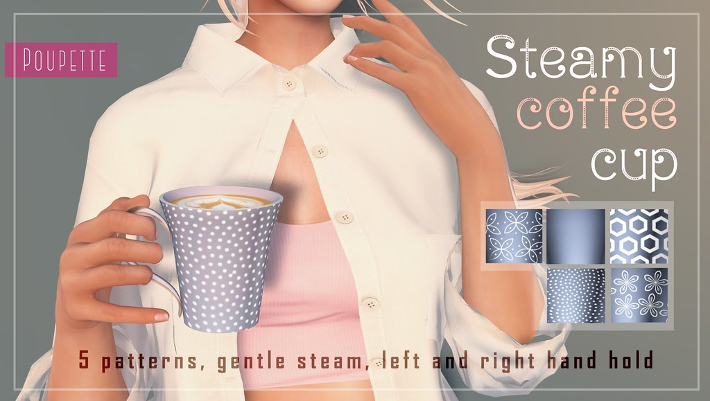 Steamy coffee cup