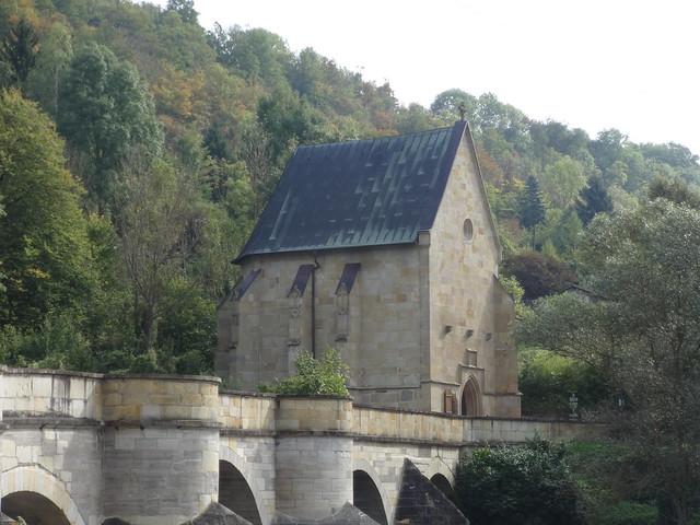 1499 Creuzburg spätgotische Liborius-Kaplle von Kunrad Stebel von Rotenburg an Creuzburger Brücke über die Werra Eisenacher Straße südlich 99831