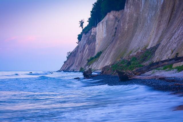 Abend an der Kreideküste