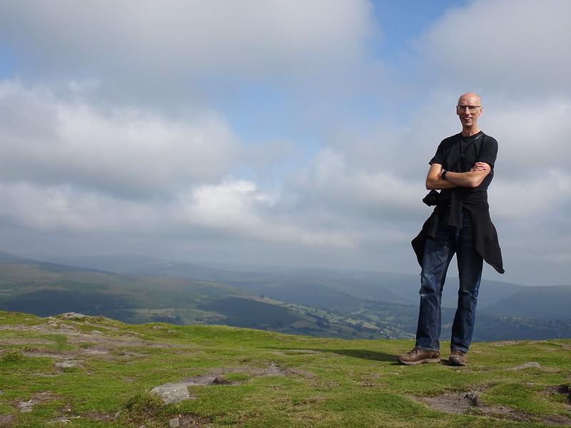 Phil on the summit ridge, Sugar Loaf