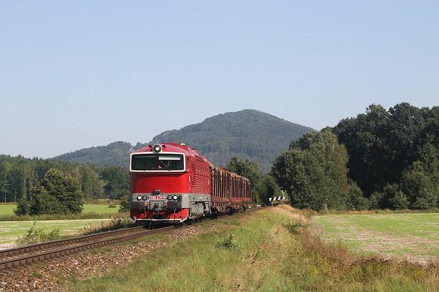 ČDC 750 338-6 bij Velký Grunov op 8-9-2021