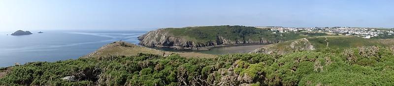Newgale to Solva: Panorama - Black Rock, Penrhyn Headland (south), Solva Harbour and Upper Solva