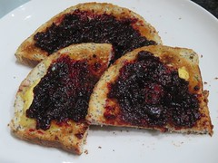 Blackberry Jam on Toast