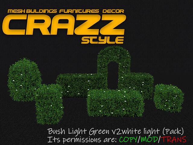 Bush Light Green v2white light (Pack)