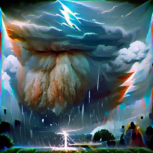 'a thunder storm' SlideShowVisions