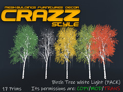 Birch Tree white Light (PACK)