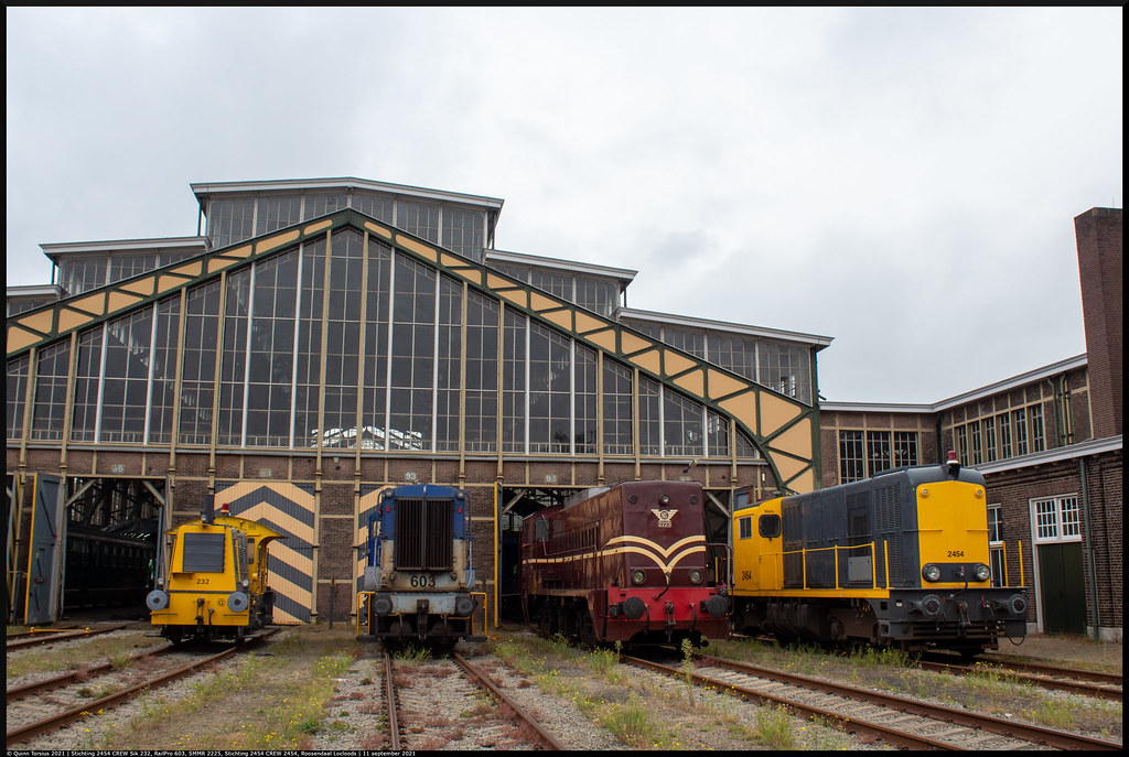 Stichting 2454 CREW Sik 232, RailPro 603, SMMR 2225, Stichting 2454 CREW 2454 // Line-up // Roosendaal, Locloods // 11 september 2021, Open monumentendag