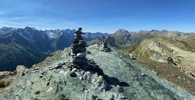 On the summit of Piz Lunghin (2780 m), Graubünden, Switzerland - explored! Thanks!
