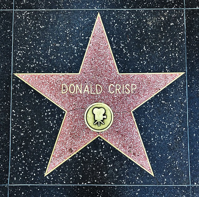 Donald Crisp  [from Hollywood Walk Of Fame]