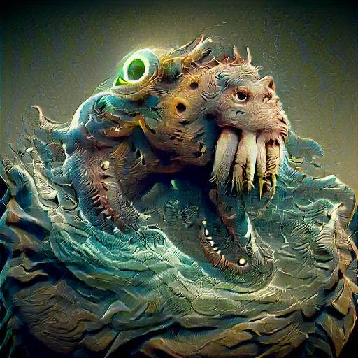 'a sea monster' SlideShowVisions