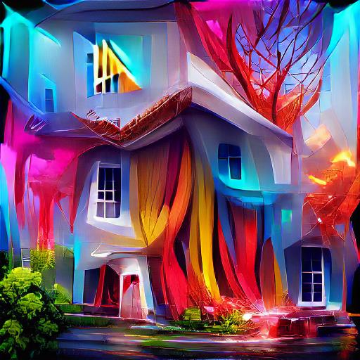 'a house vivid colors' SlideShowVisions