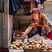 Peach seller in Bishkek