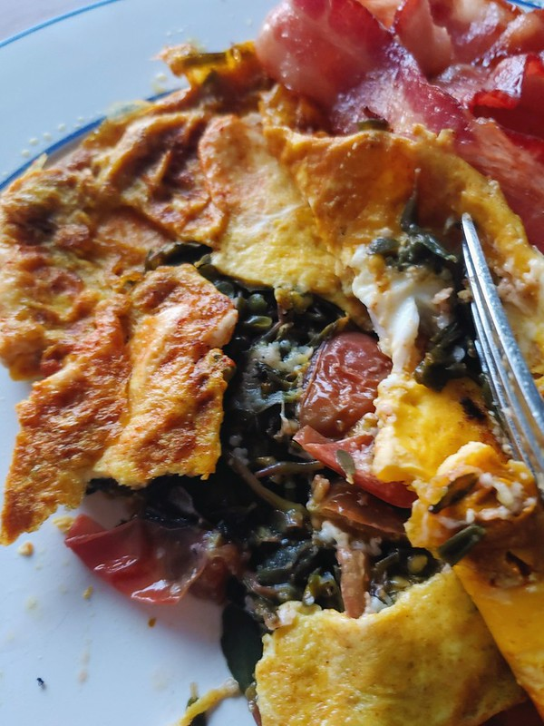 Purslane Tomato Omelette