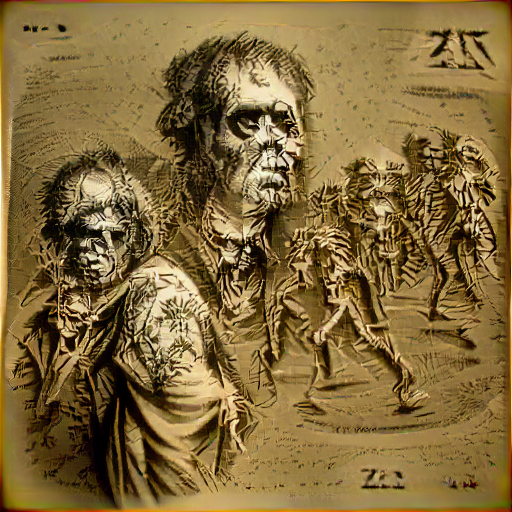 'an engraving of zombies' SlideShowVisions