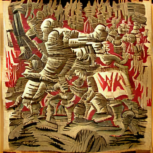 'a woodcut of war' SlideShowVisions