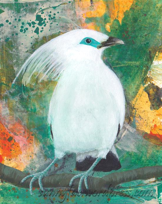 bali minah acrylic painting
