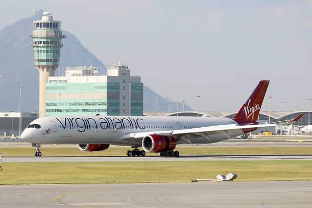 Virgin Atlantic A350-1000 G-VJRD landing HKG/VHHH