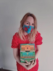 Alice from Te Hāpua: Halswell Centre matches mask to dress to book