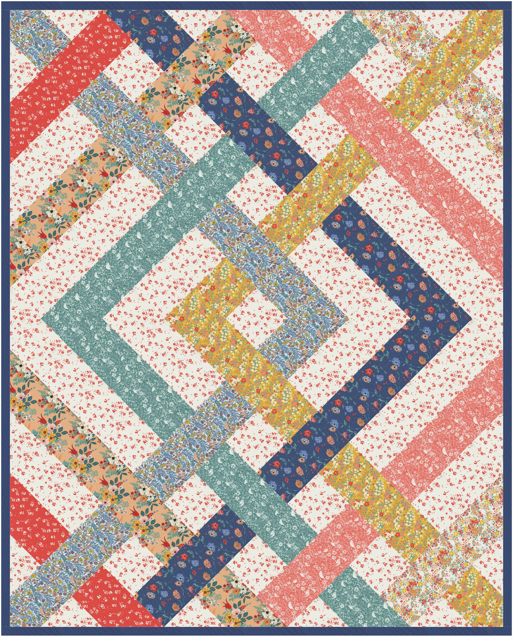 The Eliza Quilt in Lady Bird - Kitchen Table Quilting