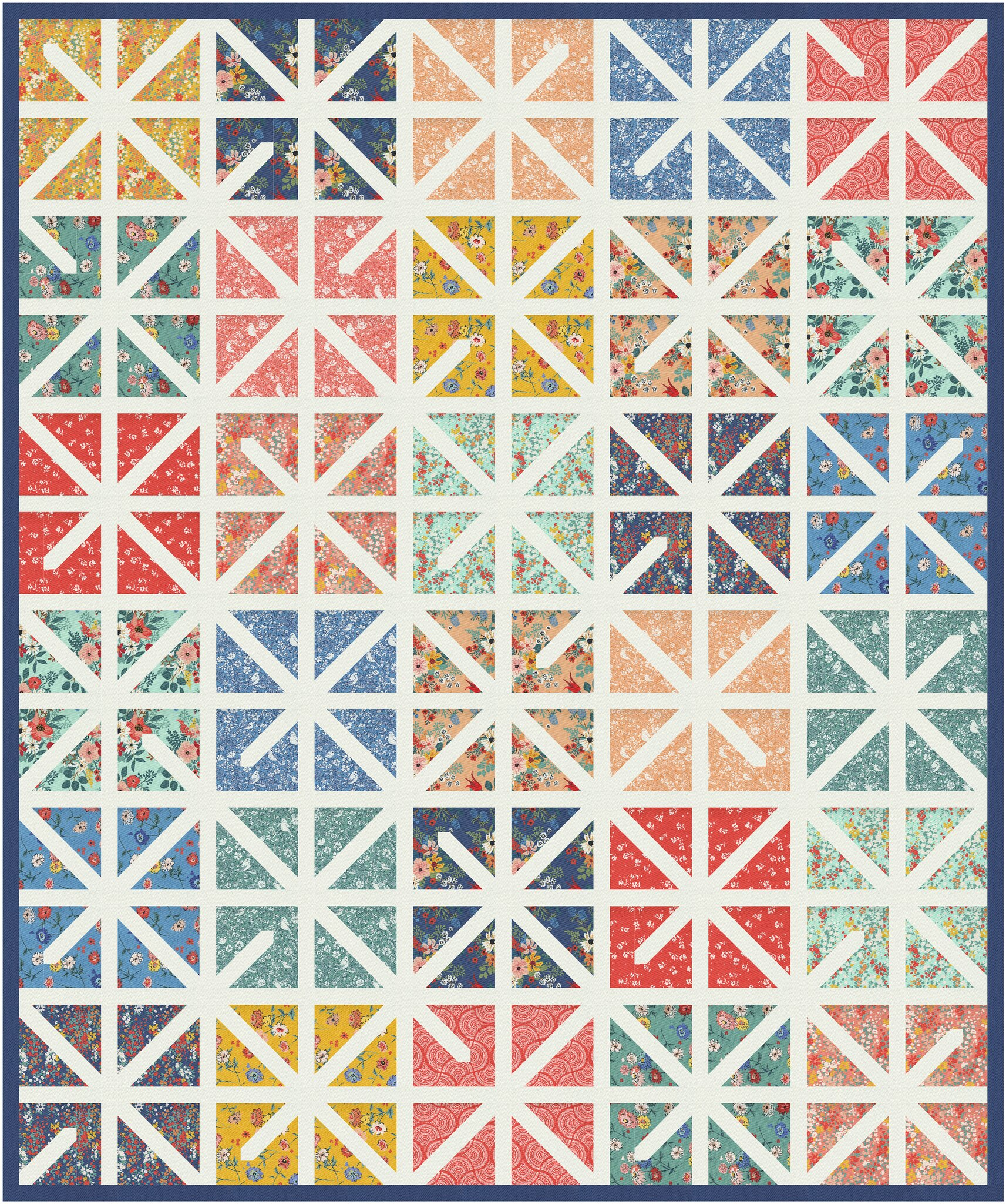 The Zola Quilt in Lady Bird - Kitchen Table Quilting