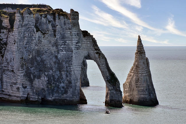 France - Normandie - Etretat l'Aiguille et la Porte d'Aval
