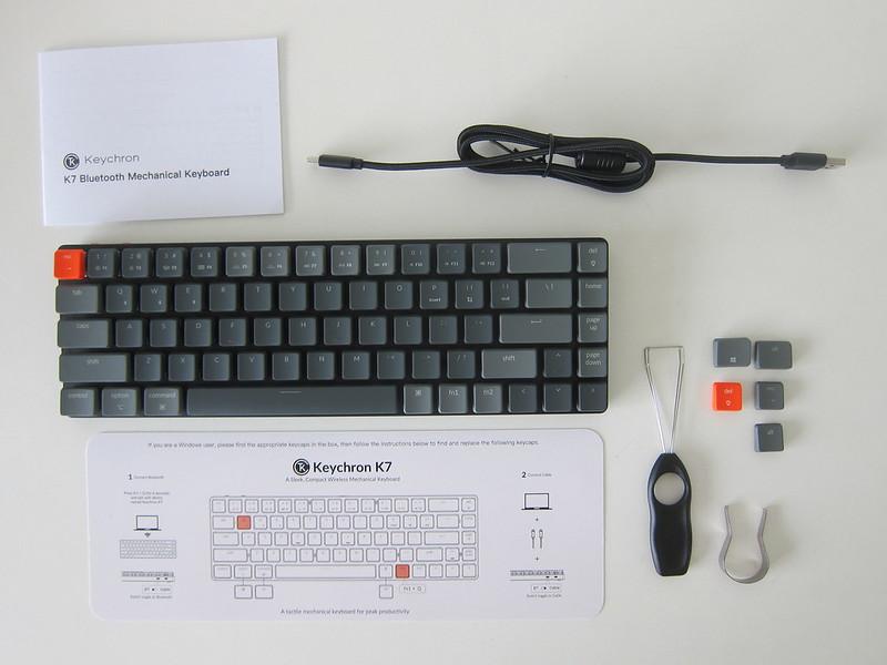 Keychron K7 - Box Contents