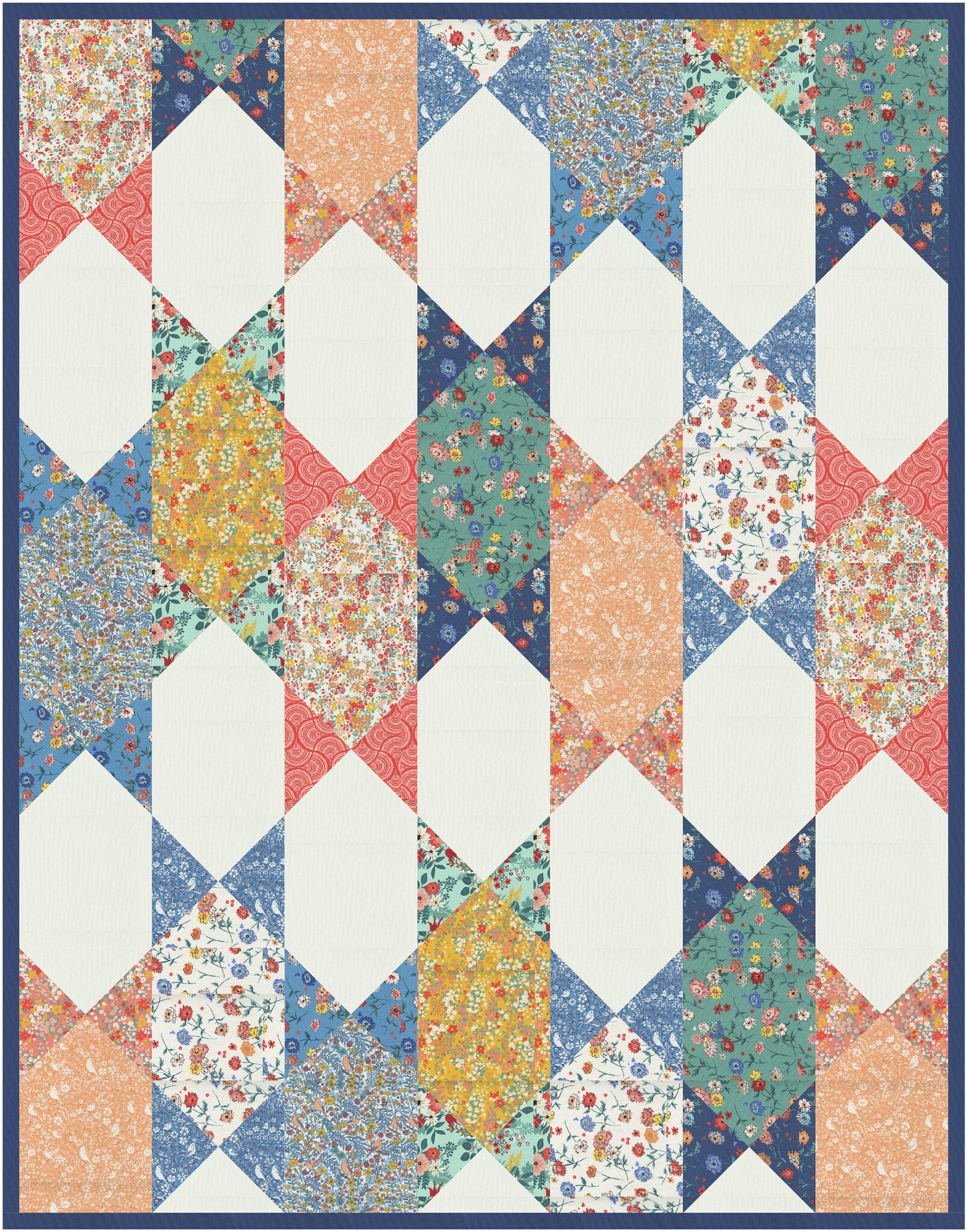 The Abigail Quilt in Lady Bird - Kitchen Table Quilting