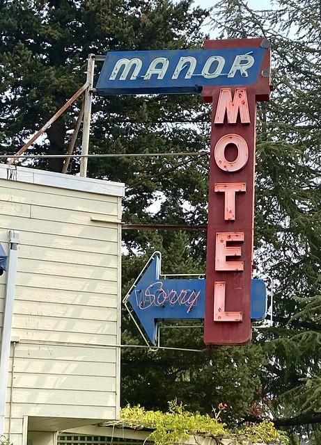 Manor Motel neon sign