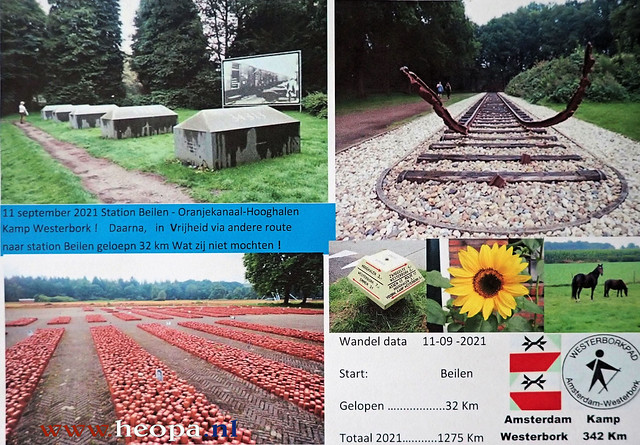 2021-09-11 Bijlen          - Kamp -         - Westerbork -         Station Beilen      32 Km  (134)