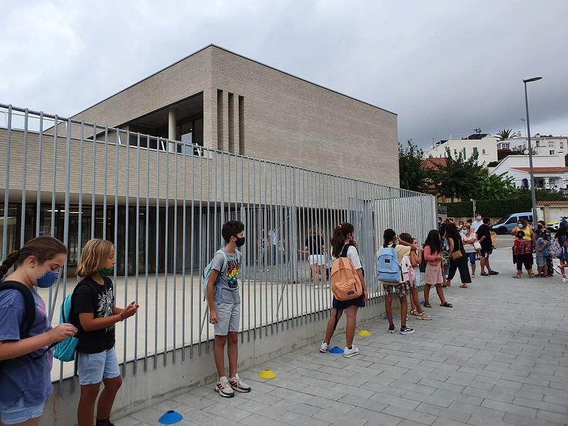 Inicio del curso escolar 2021-2022 en Sitges