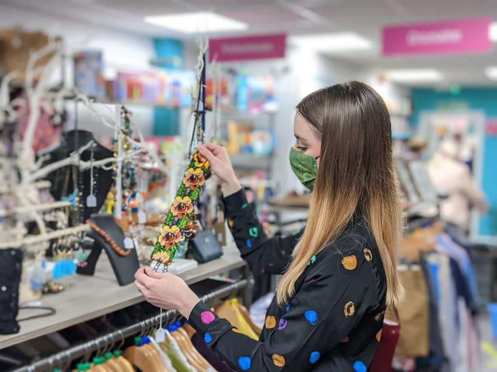 Chelsea Jade Charity Shop Shopping - Isabel Hospice 1
