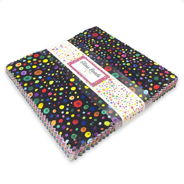 Wilmington Prints / Glass Beads - 5 Karat Gems / 5in Squares 42pcs /チャームパック