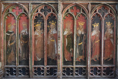Catfield screen (north): eight kings