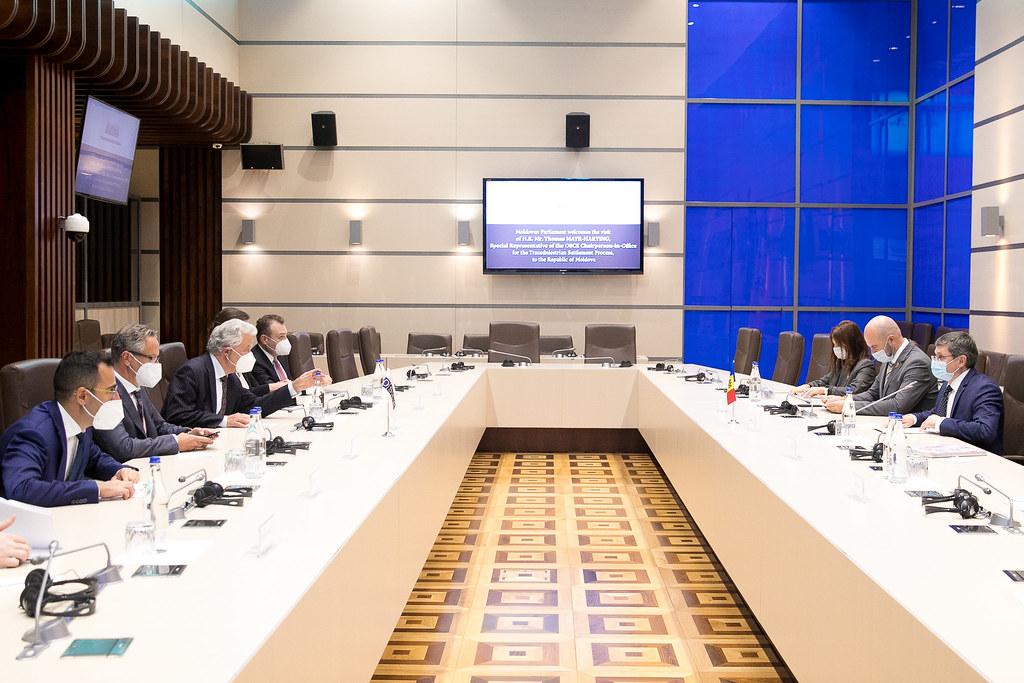 13.09.2021 Întrevederea Președintelui Parlamentului, Igor Grosu, cu Thomas Mayr-Harting, Reprezentantul Special al Președintelui în Exercițiu al OSCE pentru procesul de reglementare a conflictului transnistrean