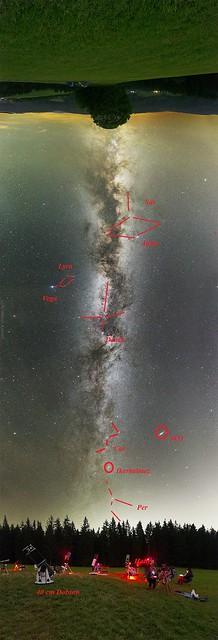 VCSE - Néhény csillagkép és mélyég-objektum a képen - Forrás: Schmall Rafael