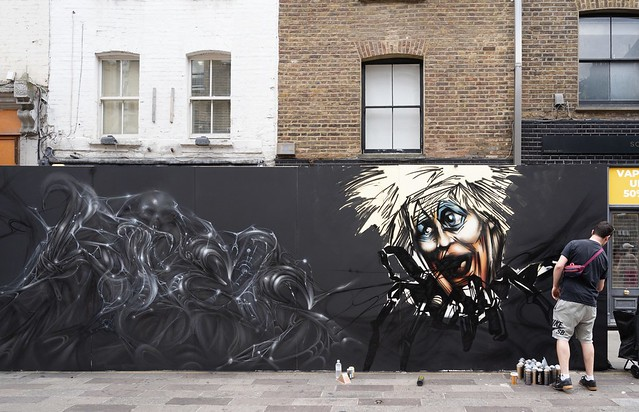 Boris The Spider and his web of lies by Spore and Mr Oliver Switch