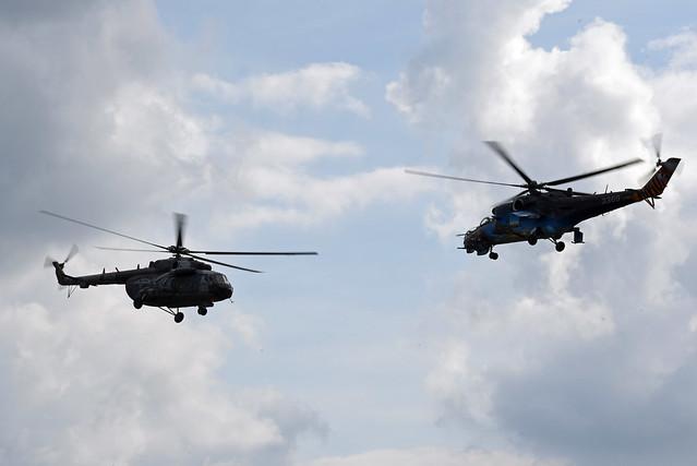 Czech Republic - Air Force Mil Mi-24V Hind E 3369 & Czech Republic - Air Force Mil Mi-171Sh Baikal 9926
