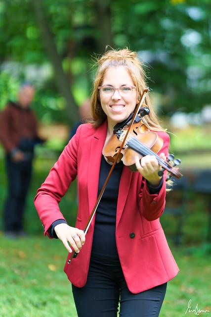 Violoniste avec bokeh