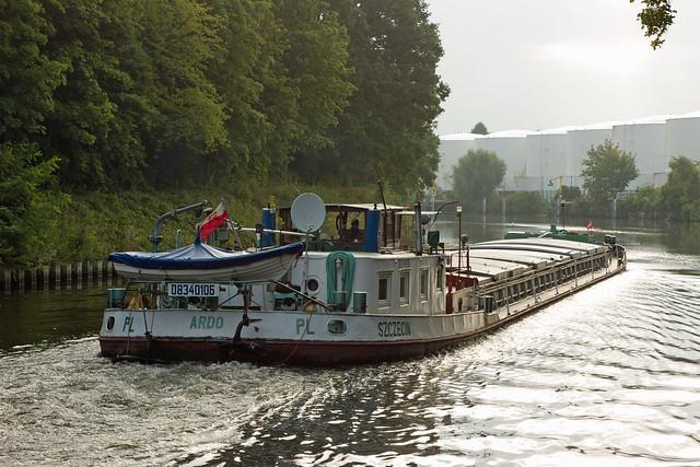 Berlin Teltowkanal 5.9.2021 Binnenschiff ARDO