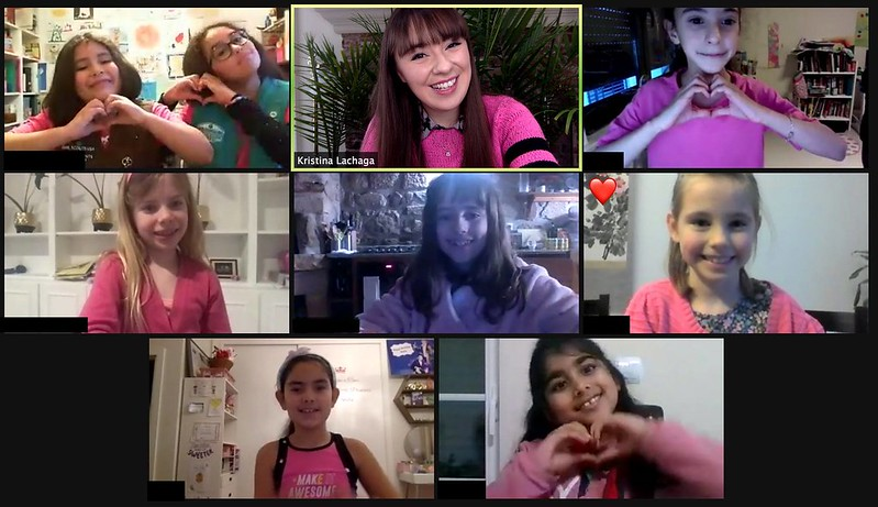 Kristina Lachaga & her Girl Scout sisters in Portugal!